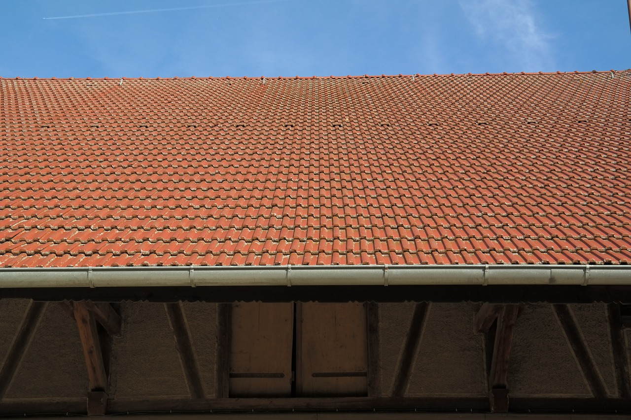 image of roof gutters after a pressure wash