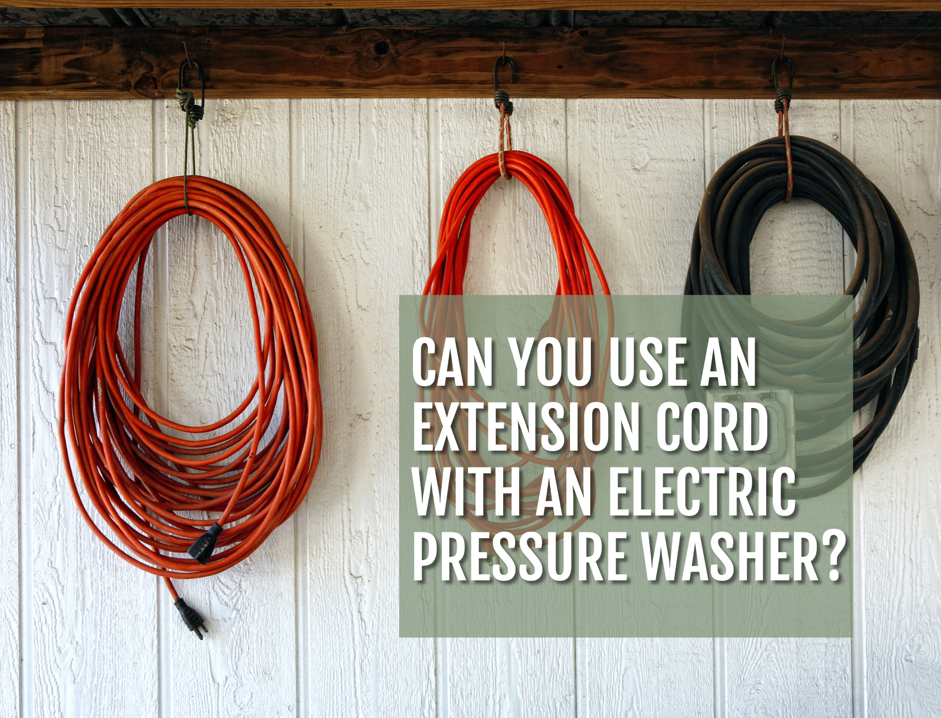Can You Use An Extension Cord With An Electric Pressure Washer